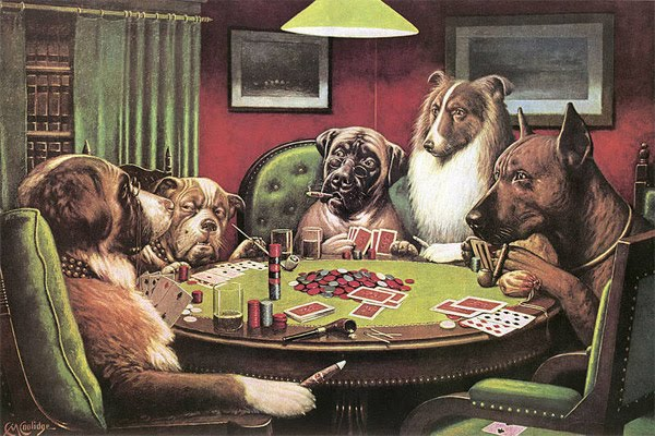 Dogs smoking cigars playing poker crap strategies to win